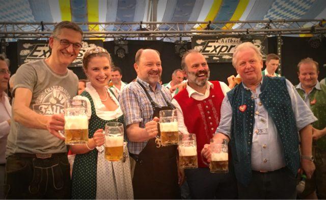 Michaelimesse, Miltenberg; Bayerische Bierkönigin Sabine-Anna Ullrich, Cornelius Faust, Johannes Faust, Brauhaus Faust OHG, Miltenberg