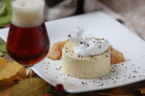 Bockbierparfait mit Apfel-Ingwer-Sauce