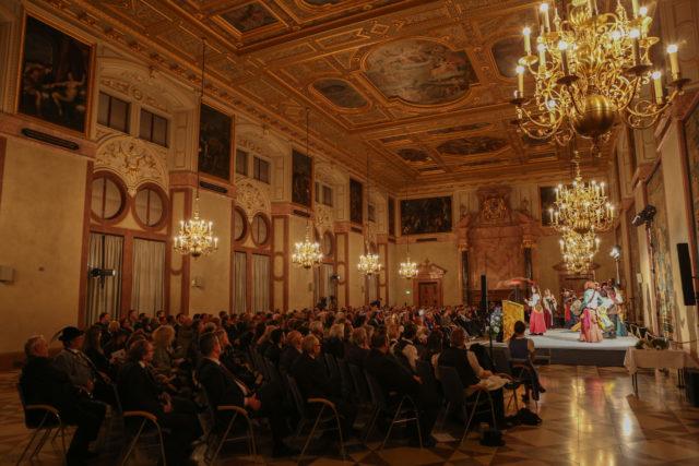 Festlicher Rahmen im Kaisersaal der Residenz anlässlich der Einführung des Bayerischen Landesverzeichnisses des Immateriellen Kulturerbes